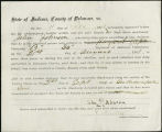 Application for discharged soldiers' county bounty - Affidavit of John Johnson, for John Johnson