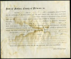 Application for deceased soldiers' county bounty - Affidavit of Benjamin Jones, for Jacob G. Jones