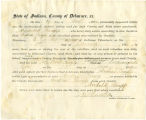Application for discharged soldiers' county bounty - Affidavits of Andrew Knapp and Archibald...