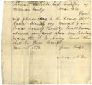 Letter from Amos Lee to A. J. Buckles, regarding soldiers' county bounty for Amos Lee