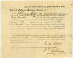 Application for discharged soldiers' county bounty - Affidavit of George Needler, for George...