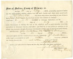 Application for discharged soldiers' county bounty - Affidavit of A. J. Buckles, for John...