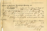 Application for deceased soldiers' county bounty - Affidavit of William R. Parsons, for Thomas...