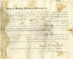 Application for discharged soldiers' county bounty - Affidavit of George A. Reynolds, for George...