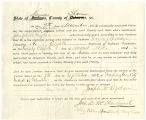 Application for discharged soldiers' county bounty - Affidavit of Joseph W. Rigdon, for Joseph W....