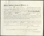 Application for discharged soldiers' county bounty - Affidavit of John P. Robinson, for John P....