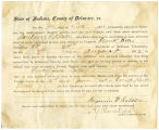 Application for discharged soldiers' county bounty - Affidavit of Benjamin F. Ralston, for...