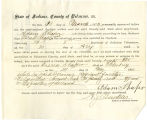 Application for deceased soldiers' county bounty - Affidavit of Adam Shafer, for Israel Shafer
