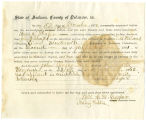 Application for deceased soldiers' county bounty - Affidavit of Frank Shafer, for John Shafer