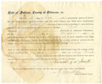 Application for discharged soldiers' county bounty - Affidavits of George W. Smith, for George W....