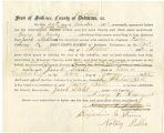 Application for deceased soldiers' county bounty - Affidavit of Henry C. Rassey, for Jacob Stahl