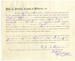 Application for discharged soldiers' county bounty - Affidavit of Hugh A. Stephens, for Hugh A....