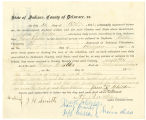 Application for deceased soldiers' county bounty - Affidavit of Jane Childes, for Harvey S. Childes