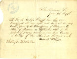 Application for deceased soldiers' county bounty - Affidavit of James H. Adams, for Lewis C. Wilson