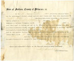 Application for discharged soldiers' county bounty - Affidavit of Joseph Worel, for Joseph Worel