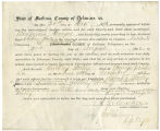 Application for deceased soldiers' county bounty - Affidavit of Benjamin Dragoo, for Anthony Worley