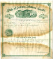 Soldiers' county bounty certificate - George W. Green