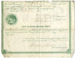 Soldiers' county bounty certificate - Jonathan Parker