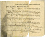 Application for deceased soldiers' county bounty - Affidavit of Edwin C. Anthony, for Samuel W....