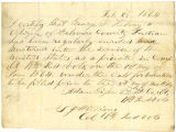 Letter from 2nd Lt. Col. Adam Gilke and Col. S. J. Williams, regarding enlistment of George P....