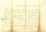 Letter from 2nd Lieutenant Thomas Horford, regarding enlistment of Franklin Keever