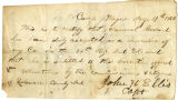 Letter by Capt. John H. Ellis, regarding enlistment of Samuel Garrard