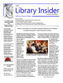 Library Insider 2009-08, Vol. 07, Iss 08-09