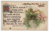 1908 New Year postcard with poem
