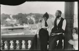 Mildred Ryan Beatty, Ross J. Beatty and Mildred Marsh at hotel in Natchez, Mississippi