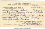Fatherless Children of France child sponsorship form