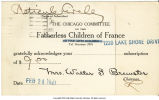 Reciept from Fatherless Children of France