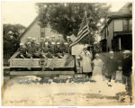 Ontario Silver Company float - Muncie American Red Cross