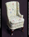 Queen Anne Wing-Backed Chair