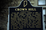 Crown Hill Cemetery, Historical marker