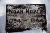 Burial marker for Noah Noble
