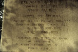 Burial marker for Benjamin Harrison