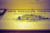 Hope Moravian Church sign