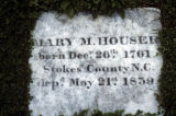 Burial marker for Mary M. Houser