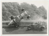 George Snider and Darl Harrison race crash at Winchester Speedway, Winchester, Indiana (04 of 09)