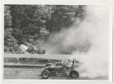 George Snider and Darl Harrison race crash at Winchester Speedway, Winchester, Indiana (08 of 09)