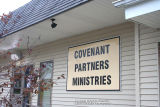 Covenant Partners Ministries United Methodist Church, Exterior detail with sign