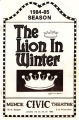 Muncie Civic Theatre Program : The Lion in Winter