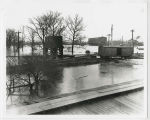 1913 Muncie, Indiana flood, Pennsylvania Railroad tracks