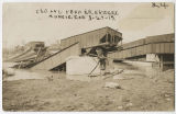 1913 Muncie, Indiana flood, C & O and Pennsylvania railroad bridges