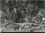 Unidentified man with crocodile