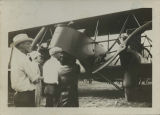 Unidentified group with airplane