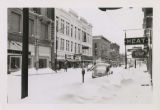 Downtown Muncie, Indiana blizzard