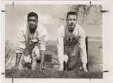 Jim Nettles and Mike Schranz, 100 yard dash practice, Muncie Central High School