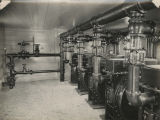 Industrial gas metering installation interior view