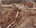 Workers at Unionport, Indiana gas pipeline storage field